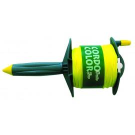 Enrouleur de 100 m, corde câblée jaune Ø 1.5 mm