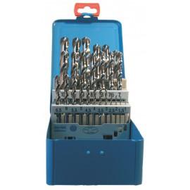 Coffret 25 forets HSS de 1 à 13 par 0,5mm