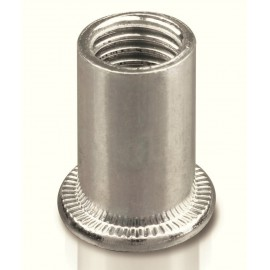 Insert Fileté Inox A2 Tête Plate à Collerette  M3x 9.5mm