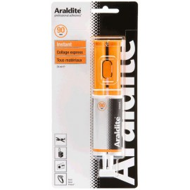 Colle ARALDITE Instant 90 secondes seringue doseuse 24ml